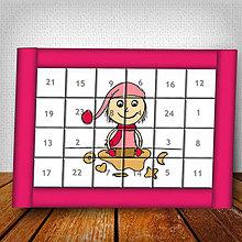 Dekorácie - Adventný kalendár Vianočný pajác jednoduchý - 6007395_