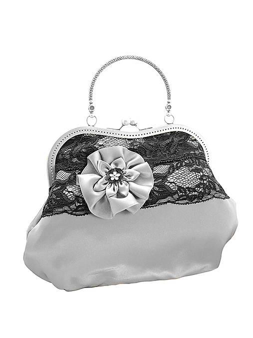 cbd7a4594c Spoločenská dámská strieborná čipková kabelka 01K   Gothic Burlesque ...