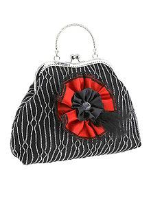 Kabelky - Spoločenská dámská kabelka čierná 01U - 6011015_