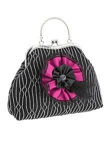 Kabelky - Spoločenská dámská kabelka čierná 02U - 6015043_