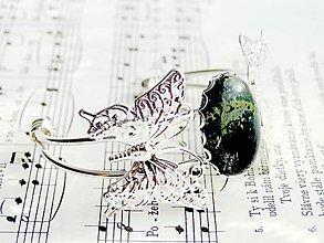 Náramky - Green Jasper & Butterfly - 6011133_