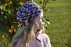 Detské čiapky - Měnící - baret fialové odstíny - 6013415_