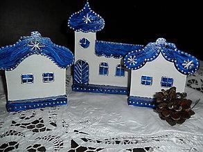 Dekorácie - Drevená dedinka - 6014195_