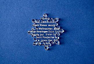Dekorácie - Ľadová vianočná vločka - 6014784_
