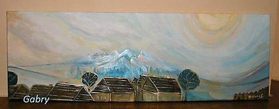 Obrazy - ...Za dedinou - abstrakt - 6014951_