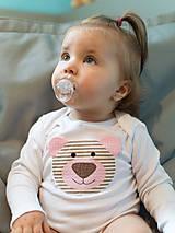 Detské oblečenie - body MACUĽKA (dlhý/krátky rukáv) - 6011396_