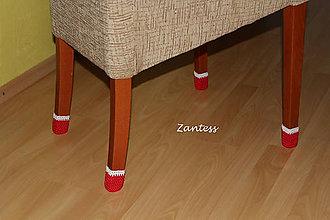 Úžitkový textil - Mikulášske čižmičky na nohy stoličky 1set (4ks) - 6014042_