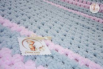 Textil - Detská deka Sivá myška - 6011568_