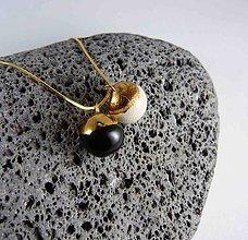 Náhrdelníky - Tana šperky - keramika/zlato - 6011437_