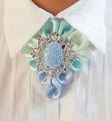 Náhrdelníky - Elegancia a la Chanel - mentolový fresh - 6011267_