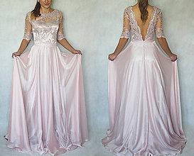 Šaty - Spoločenské šaty s holým chrbátom a kruhovou sukňou - 6011877_