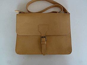 Veľké tašky - Kožená béžová - 6014230_