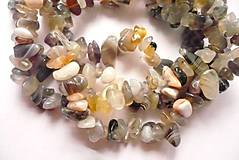 Minerály - Minerální zlomky 45 cm - achát šedý - 6011879_