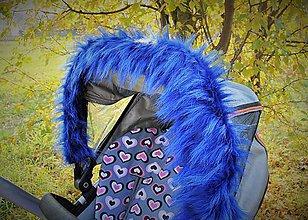 Textil - Kožušinka MODRÁ - 6019381_