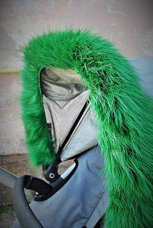 Úžitkový textil - Kožušinka na striešku na mieru ZELENÁ - 6019437_