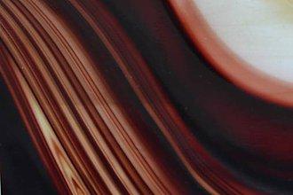 Suroviny - Sklo priehľadné bordovo hnedej farby - 6016151_
