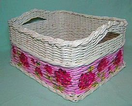 Košíky - Pletený maľovaný košík - 6019517_