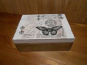 Krabičky - vintage motýľ krabička - 6018715_