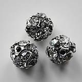 Komponenty - Šatonová gulička 9mm-krystal-1ks - 6018842_