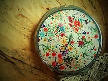 Zrkadielka - Zrkadielko kabelkové s kvetmi - 6017037_