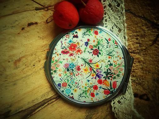 Zrkadielko kabelkové s kvetmi