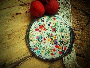 Zrkadielka - Zrkadielko kabelkové s kvetmi - 6017036_