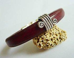 Šperky - Pánsky s ornamentom, bordový - 6018048_