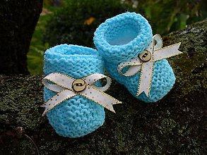 Topánočky - Blue-gold baby - 6016220_