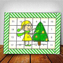 Dekorácie - Adventný kalendár Vianočný pajác pruhovaný 4 - 6018430_