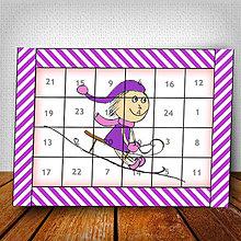 Dekorácie - Adventný kalendár Vianočný pajác pruhovaný 5 - 6018432_