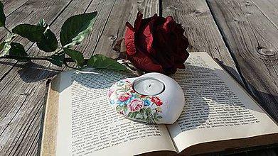 Svietidlá a sviečky - Svietniček ružičkový - 6020452_