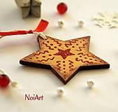 Vianočná ozdoba Hviezda zlatá