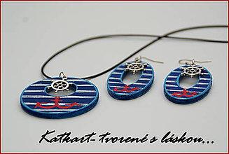 Sady šperkov - Sada pre smelú námorníčku ♥ - 6020735_
