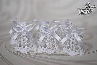 Dekorácie - Sada zvončekov biela - 6022072_