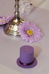 Darčeky pre svadobčanov - Krabička klobúčik pre svadobných hostí - 6024573_