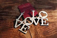 Náušnice - Náušnice - Love - 6025007_