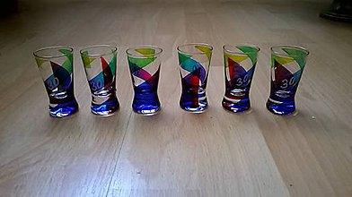 Nádoby - Set maľovaných pohárikov na 30-tku - 6020223_