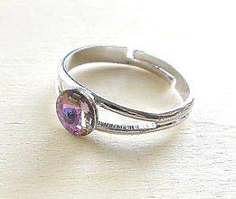 Prstene - Swarovski rivoli Vitrail Light (6 mm) - prsteň - 6021849_