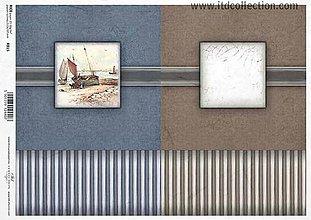 Papier - ryžový papier morský motív - 6023062_