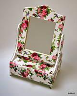 Zrkadlá - Nostalgické zrkadielko ružičky - 6023150_