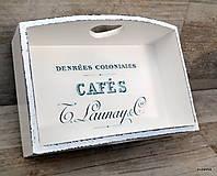 Nádoby - Café košik v bielom - 6023594_