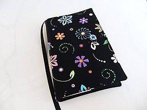 Papiernictvo - Veselé, barevné kytičky - obal na knihu - 6024625_