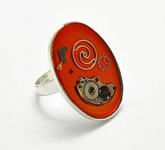 Prstene - Veľký prsteň oranžový - 6024559_