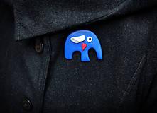 Sloník - brošňa
