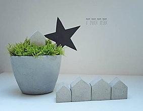 Dekorácie - Betónové domčeky - 6021784_