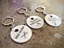 Kľúčenky - KRUH a piktogram  / 2mm hrúbka / cena za 1ks + 1x skoba - 6029802_