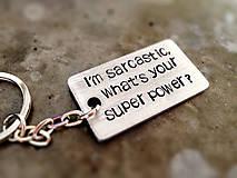 Kľúčenky - SUPER POWER :) / hrúbka 2mm - 6029954_