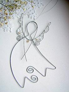 Dekorácie - anjel s perličkami - 6025818_