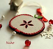 - Vianočná ozdoba Jabĺčko bodkované - 6025690_