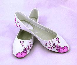 Obuv - ružovkasté svadobné baleriny - 6026498_
